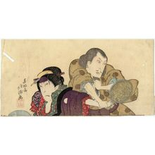 Shunkosai Hokushu: Actors Nakamura Utaemon III (Shikan) as Shunkan and Nakamura Matsue III as Oyasu - Museum of Fine Arts