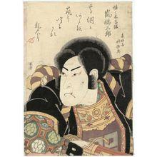 春好斎北洲: Actor Arashi Kitsusaburô I as Sasaki Takatsuna - ボストン美術館