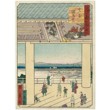 歌川国員: Votive-Picture Hall of the Shrine at Ikutama (Ikutama Ema-dô), from the series One Hundred Views of Osaka (Naniwa hyakkei) - ボストン美術館