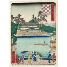 Utagawa Yoshitaki: Zakoba-Tsukiji and Kawaguchi (Kawaguchi Zakoba-Tsukiji), from the series One Hundred Views of Osaka (Naniwa hyakkei) - Museum of Fine Arts
