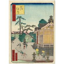 歌川芳滝: Ibara Sumiyoshi Shrine (Ibara Sumiyoshi), from the series One Hundred Views of Osaka (Naniwa hyakkei) - ボストン美術館