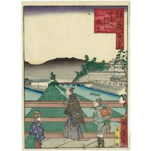 Utagawa Kunikazu: View of Tenma-bashi Bridge (Tenma-bashi fûkei), from the series One Hundred Views of Osaka (Naniwa hyakkei) - Museum of Fine Arts