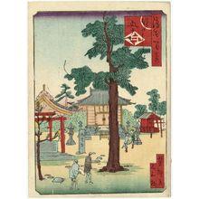 歌川芳滝: The Temple of the Five Great Power Bodhisattvas at Sumiyoshi (Sumiyoshi Godairiki), from the series One Hundred Views of Osaka (Naniwa hyakkei) - ボストン美術館
