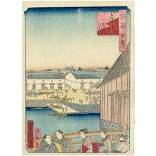 歌川芳滝: Dock at Eitai-hama (Eitai-hama), from the series One Hundred Views of Osaka (Naniwa hyakkei) - ボストン美術館