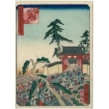 歌川芳滝: Imamiya Ebisu Shrine (Imamiya Ebisu no miya), from the series One Hundred Views of Osaka (Naniwa hyakkei) - ボストン美術館