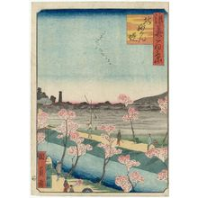 歌川国員: Myôken Temple Embankment in the North (Kita Myôken tsutsumi), from the series One Hundred Views of Osaka (Naniwa hyakkei) - ボストン美術館