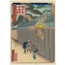 Utagawa Yoshitaki: The Pine Tree of the Reversed Oars in Fukushima (Fukushima Sakaro-no-matsu), from the series One Hundred Views of Osaka (Naniwa hyakkei) - Museum of Fine Arts