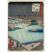 Utagawa Yoshitaki: Yotsubashi Bridges (Yotsubashi), from the series One Hundred Views of Osaka (Naniwa hyakkei) - Museum of Fine Arts