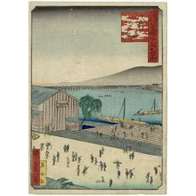 歌川国員: Evening View of Hachiken'ya (Hachiken'ya yûkei), from the series One Hundred Views of Osaka (Naniwa hyakkei) - ボストン美術館