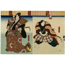Utagawa Hirosada: Actor Nakamura Utaemon IV as Katô Masakiyo (L) - Museum of Fine Arts