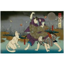 Utagawa Hirosada: Actors in Act 4 of Ogura no Shikishi - Museum of Fine Arts