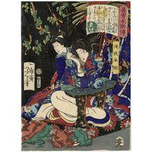 Tsukioka Yoshitoshi: Takiyasha-hime, from the series Sagas of Beauty and Bravery (Biyû Suikoden) - Museum of Fine Arts