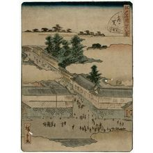 二歌川広重: No. 42, Kasumigaseki, from the series Forty-Eight Famous Views of Edo (Edo meisho yonjûhakkei) - ボストン美術館