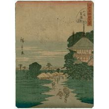 Utagawa Hiroshige II: No. 26, Temple of the Five Hundred Arhats (Gohyaku Rakan), from the series Forty-eight Famous Views of Edo (Edo meisho yonjûhakkei) - Museum of Fine Arts