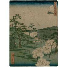 Utagawa Hiroshige II: No. 13, Cherry-blossom Viewing at Asuka Hill (Asukayama hanami), from the series Forty-Eight Famous Views of Edo (Edo meisho yonjûhakkei) - Museum of Fine Arts