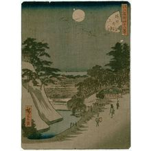 Utagawa Hiroshige II: No. 47, On the Hill outside the Sakurada Gate (Sakurada-soto jô), from the series Forty-Eight Famous Views of Edo (Edo meisho yonjûhakkei) - Museum of Fine Arts
