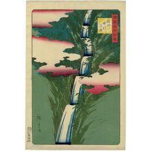 Utagawa Hiroshige II: The Nunobiki Waterfall in Settsu Province (Sesshû Nunobiki no taki), from the series One Hundred Famous Views in the Various Provinces (Shokoku meisho hyakkei) - Museum of Fine Arts