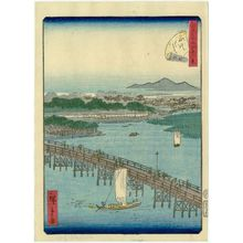 二歌川広重: No. 29, Eitai Bridge (Eitai-bashi), from the series Forty-Eight Famous Views of Edo (Edo meisho yonjûhakkei) - ボストン美術館