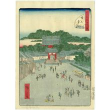 二歌川広重: No. 33, Zôjô-ji Temple (Zôjô-ji), from the series Forty-Eight Famous Views of Edo (Edo meisho yonjûhakkei) - ボストン美術館