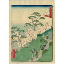 二歌川広重: No. 12, Higurashi Village (Higurashi no sato), from the series Forty-Eight Famous Views of Edo (Edo meisho yonjûhakkei) - ボストン美術館