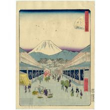 Utagawa Hiroshige II: No. 3, Suruga-machi, from the series Forty-Eight Famous Views of Edo (Edo meisho yonjûhakkei) - Museum of Fine Arts
