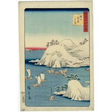 Utagawa Hiroshige II: True View of Muro Harbor in Harima Province (Banshû Muro-no-tsu shinkei), from the series One Hundred Famous Views in the Various Provinces (Shokoku meisho hyakkei) - Museum of Fine Arts