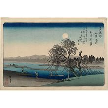 Utagawa Hiroshige: Autumn Moon on the Tama River (Tamagawa no shûgetsu), from the series Eight Views in the Environs of Edo (Edo kinkô hakkei no uchi) - Museum of Fine Arts