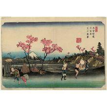 Keisai Eisen: No. 5, Ômiya Station: Distant View of Mount Fuji (Ômiya shuku, Fuji enkei), from the series The [Sixty-nine Stations of the] Kisokaidô - Museum of Fine Arts