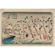 Keisai Eisen: No. 15, Itahana, from the series The Sixty-nine Stations of the Kisokaidô Road (Kisokaidô rokujûkyû tsugi no uchi) - Museum of Fine Arts