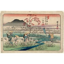 Utagawa Hiroshige: No. 22, Odai, from the series The Sixty-nine Stations of the Kisokaidô Road (Kisokaidô rokujûkyû tsugi no uchi) - Museum of Fine Arts