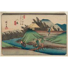Utagawa Hiroshige: No. 25, Yawata, from the series The Sixty-nine Stations of the Kisokaidô Road (Kisokaidô rokujûkyû tsugi no uchi) - Museum of Fine Arts