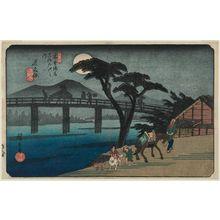 Utagawa Hiroshige: No. 28, Nagakubo, from the series The Sixty-nine Stations of the Kisokaidô Road (Kisokaidô rokujûkyû tsugi no uchi) - Museum of Fine Arts