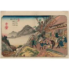 Keisai Eisen: No. 35, Narai Station: The Famous Shop (Narai shuku, meisanten no zu), from the series The [Sixty-nine Stations of the] Kisokaidô Road - Museum of Fine Arts