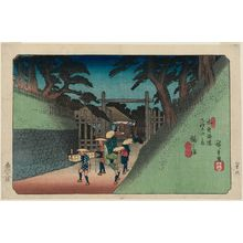 Utagawa Hiroshige: No. 38, Fukushima, from the series The Sixty-nine Stations of the Kisokaidô Road (Kisokaidô rokujûkyû tsugi no uchi) - Museum of Fine Arts