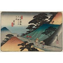 Utagawa Hiroshige: No. 43, Tsumagome, from the series The Sixty-nine Stations of the Kisokaidô Road (Kisokaidô rokujûkyû tsugi no uchi) - Museum of Fine Arts