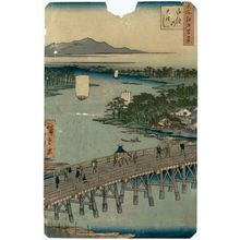 歌川広重: Senju Great Bridge (Senju no Ôhashi), from the series One Hundred Famous Views of Edo (Meisho Edo hyakkei) - ボストン美術館