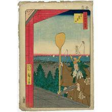 Utagawa Hiroshige: Mount Atago, Shiba (Shiba Atagoyama), from the series One Hundred Famous Views of Edo (Meisho Edo hyakkei) - Museum of Fine Arts