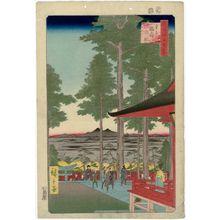 Utagawa Hiroshige: Ôji Inari Shrine (Ôji Inari no yashiro), from the series One Hundred Famous Views of Edo (Meisho Edo hyakkei) - Museum of Fine Arts