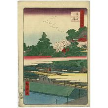 歌川広重: Ichigaya Hachiman Shrine (Ichigaya Hachiman), from the series One Hundred Famous Views of Edo (Meisho Edo hyakkei) - ボストン美術館