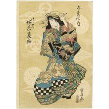 Ganjôsai Kunihiro: Actor Bandô Mitsugorô III as Sakuragidayû, from Dance of Nine Changes (Kyû henge no uchi) - Museum of Fine Arts