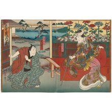Hasegawa Munehiro: Actors Bandô Hikosaburô (R) and Jitsukawa Enzaburô (L) - Museum of Fine Arts