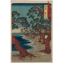 Utagawa Hiroshige: Harima Province: Maiko Beach (Harima, Maiko no hama), from the series Famous Places in the Sixty-odd Provinces [of Japan] ([Dai Nihon] Rokujûyoshû meisho zue) - Museum of Fine Arts