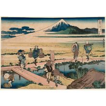 Katsushika Hokusai: Nakahara in Sagami Province (Sôshû Nakahara), from the series Thirty-six Views of Mount Fuji (Fugaku sanjûrokkei) - Museum of Fine Arts
