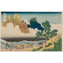 Katsushika Hokusai: Back View of Fuji from the Minobu River (Minobu-gawa ura Fuji), from the series Thirty-six Views of Mount Fuji (Fugaku sanjûrokkei) - Museum of Fine Arts