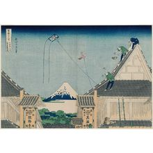 Katsushika Hokusai: The Mitsui Shop at Suruga-chô in Edo (Edo Suruga-chô Mitsui-mise ryakuzu), from the series Thirty-six Views of Mount Fuji (Fugaku sanjûrokkei) - Museum of Fine Arts