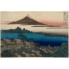 Katsushika Hokusai: Dawn at Isawa in Kai Province (Kôshû Isawa no akatsuki), from the series Thirty-six Views of Mount Fuji (Fugaku sanjûrokkei) - Museum of Fine Arts