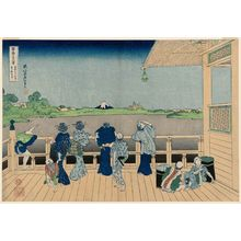 葛飾北斎: Sazai Hall of the Temple of the Five Hundred Arhats (Gohyaku Rakan-ji Sazaidô), from the series Thirty-six Views of Mount Fuji (Fugaku sanjûrokkei) - ボストン美術館