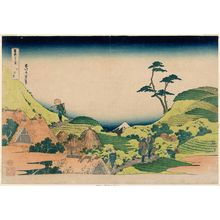 Katsushika Hokusai: Lower Meguro (Shimo-Meguro), from the series Thirty-six Views of Mount Fuji (Fugaku sanjûrokkei) - Museum of Fine Arts