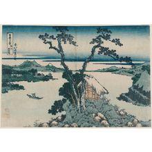 葛飾北斎: Lake Suwa in Shinano Province (Shinshû Suwa-ko), from the series Thirty-six Views of Mount Fuji (Fugaku sanjûrokkei) - ボストン美術館