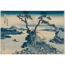 Katsushika Hokusai: Lake Suwa in Shinano Province (Shinshû Suwa-ko), from the series Thirty-six Views of Mount Fuji (Fugaku sanjûrokkei) - Museum of Fine Arts